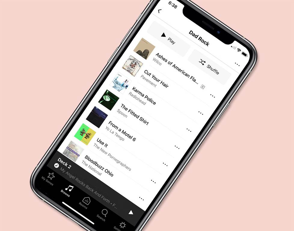 Sonos playlist on iPhone