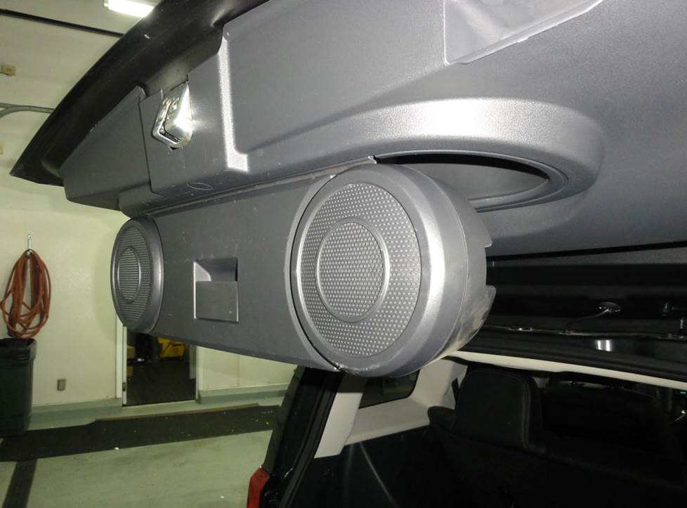 jeep compass patriot hatch speakers