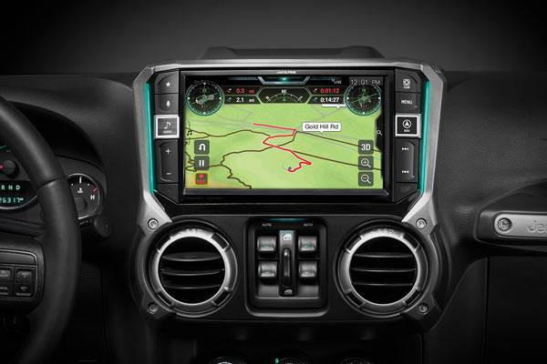 Alpine's X409-WRA-JK beautifies the dash of most 2011-2018 Wrangler JKs with a big screen and easy-to-use buttons.