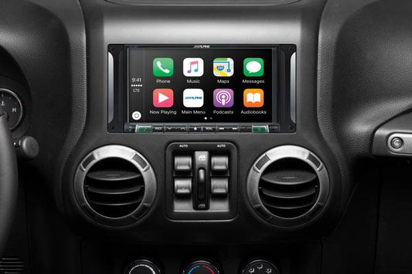 "Alpine Restyle i207-WRA Custom-fit digital multimedia receiver with 7"" screen for select 2007-17 Jeep Wrangler JK and Wrangler JK Unlimited models"