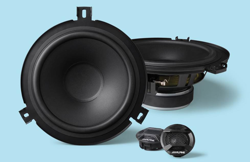 "Alpine SPV-65X-WRA 6-1/2"" marine-grade component/coaxial speaker system for select Jeep Wrangler JK vehicles"