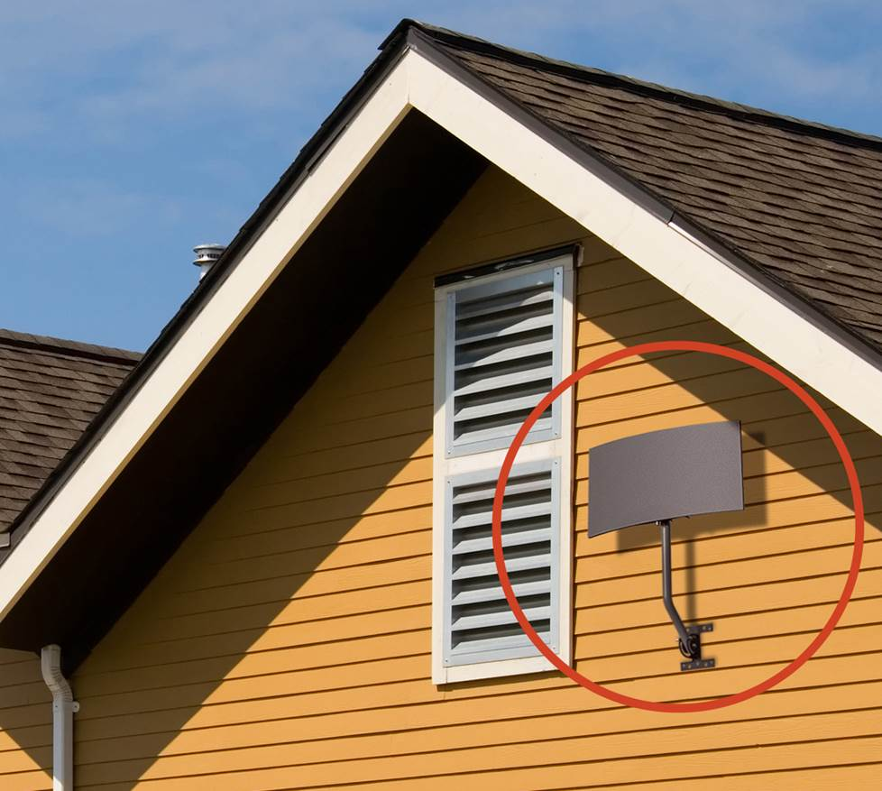 Outdoor Antenna mounted on roof