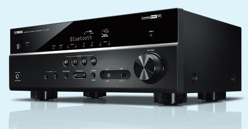 Yamaha RX-V485 5.1-channel home theater receiver with Wi-Fi®, Bluetooth®, MusicCast, and Apple® AirPlay® 2