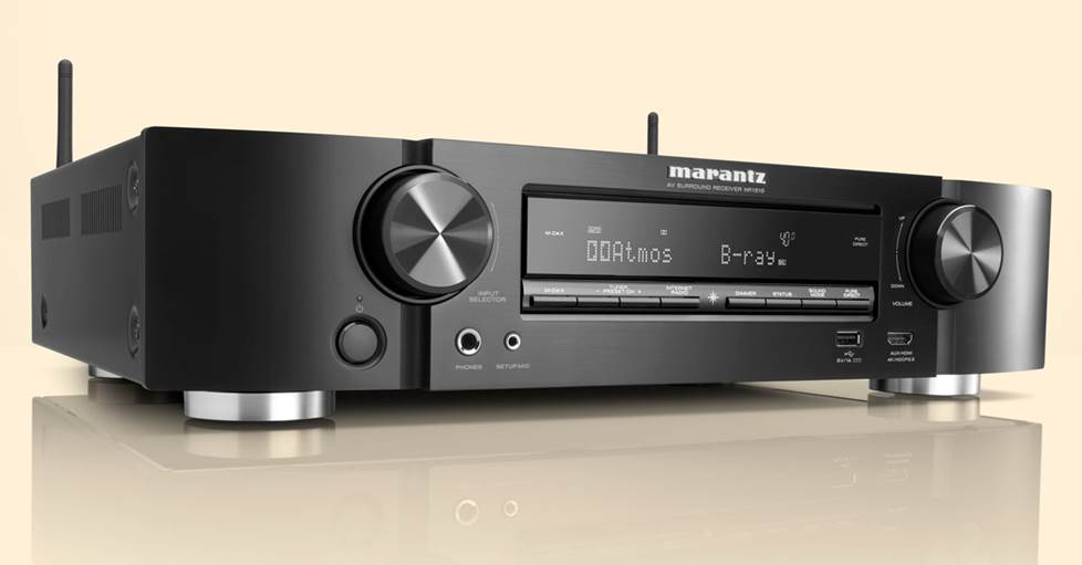 Marantz NR1510 5.2-channel slimline home theater receiver with Wi-Fi®, Apple® AirPlay® 2, and Amazon Alexa compatibility