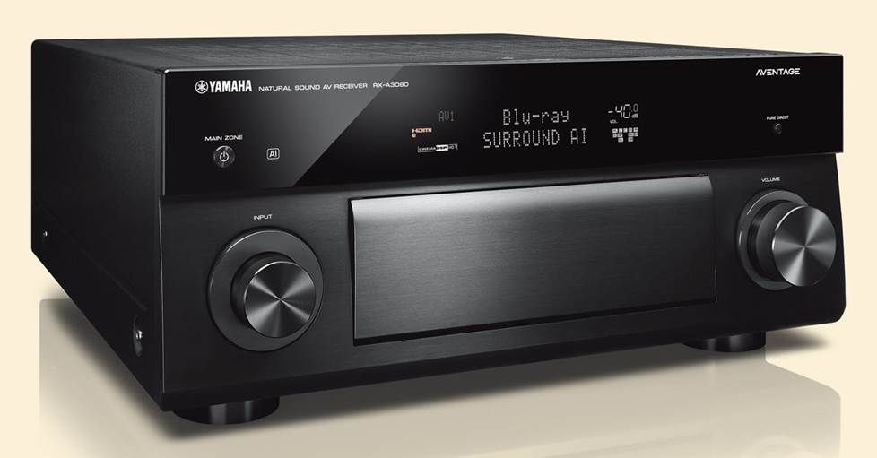 Yamaha AVENTAGE RX-A3080 9.2-channel home theater receiver with Wi-Fi®, Bluetooth®, MusicCast, and Apple® AirPlay® 2