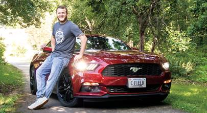 A 2016 Mustang gets loud