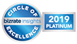 BizRate Circle of Excellence 2019 Platinum