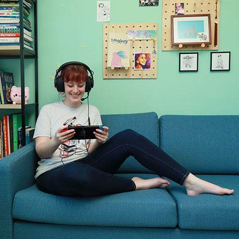 Hannah mixes work and fun while testing out the latest gear for gamers.