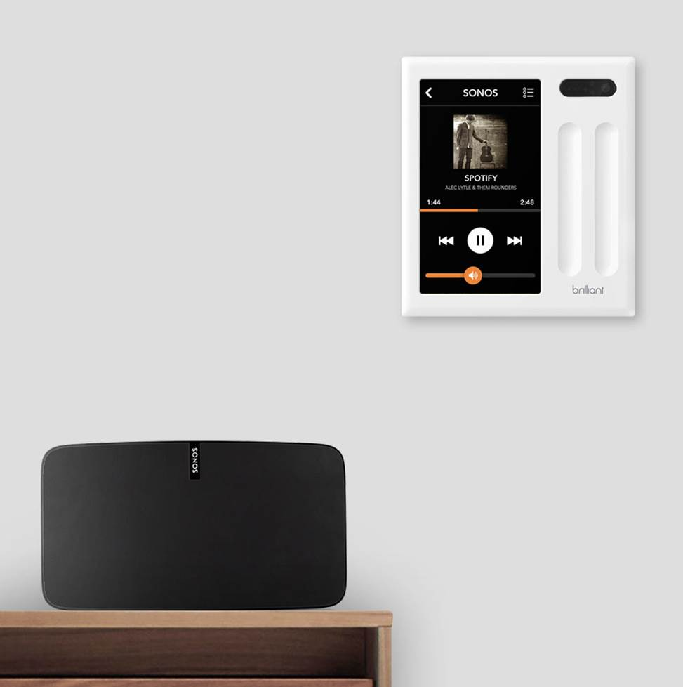 Controlling sonos with Brilliant