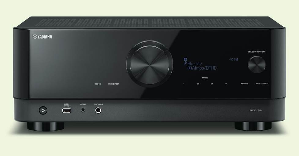 Yamaha RX-V6A - 7.2-channel home theater receiver with Dolby Atmos®, Wi-Fi®, Bluetooth®, Apple AirPlay® 2, and Amazon Alexa compatibility