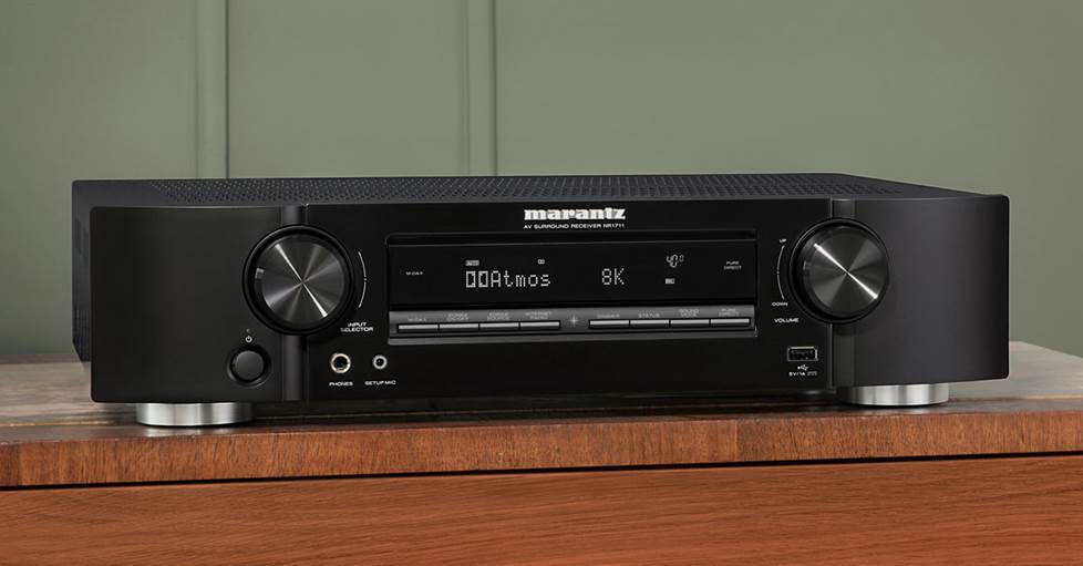 Marantz NR1711 - 7.2-channel slimline home theater receiver with Wi-Fi®, Bluetooth®, Apple® AirPlay® 2, and Amazon Alexa compatibility