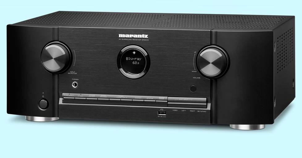 Marantz SR5015 7.2-channel home theater receiver with Dolby Atmos®, Wi-Fi®, Bluetooth®, Apple AirPlay® 2, and Amazon Alexa compatibility