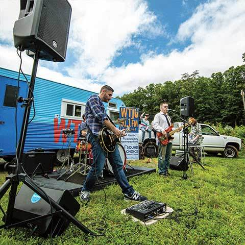 With so many musicians working at Crutchfield (and so much gear), it's only a matter of time before somebody starts rockin'.