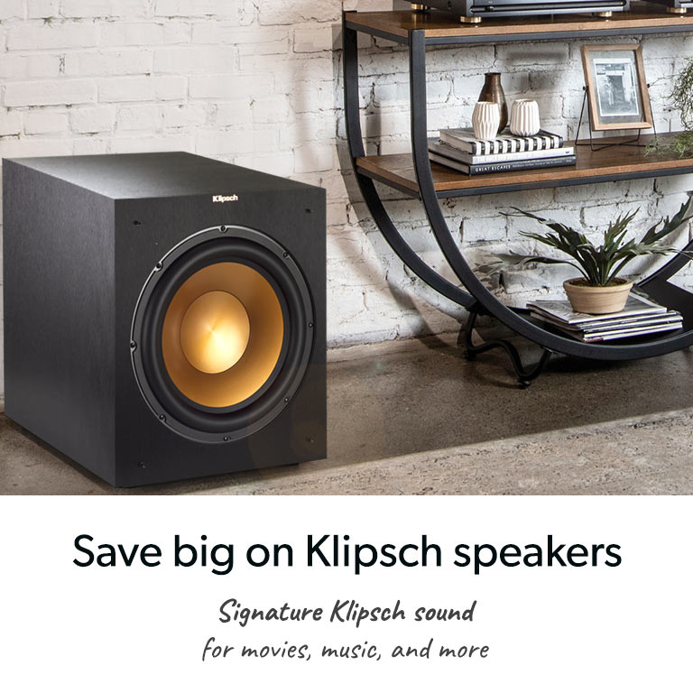 Save big on Klipsch speakers