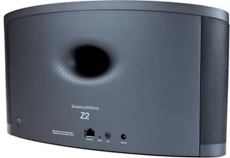 Rear photo of the Bowers & Wilkins Z2 with Flowport for deep, controlled bass response.