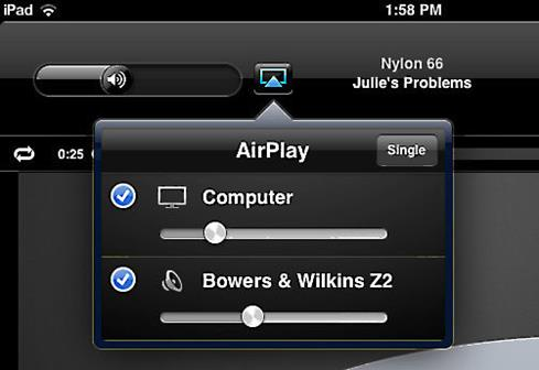 Use the Apple Remote app to play a song on the Z2 and your computer simultaneously.