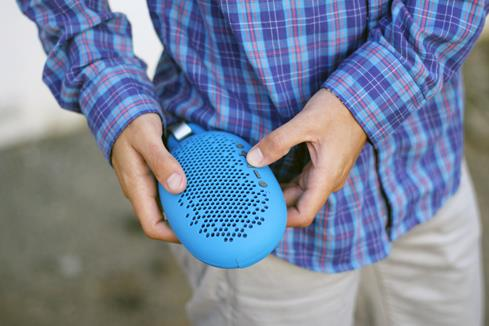 BOOM Urchin blue Bluetooth portable speaker system
