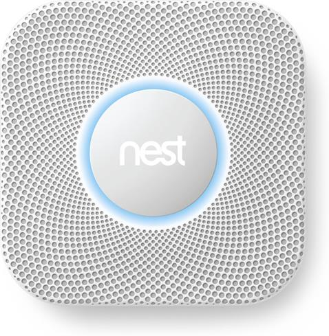 Nest Protect lights up to display its status