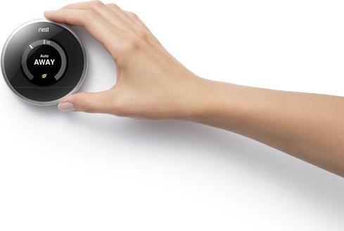 The Nest Learning Thermostat learns your schedule, so you can save energy when you're not at home.