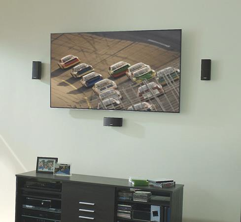 Bose AM10 Series V satellites wall mounted