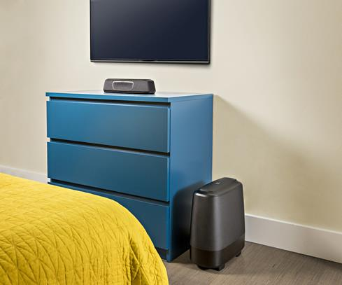 Polk Audio MagniFi Mini system in a bedroom