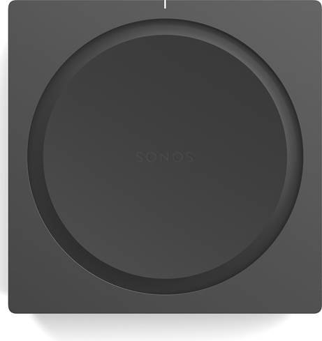 Top of Sonos Amp with a circle-in-square design
