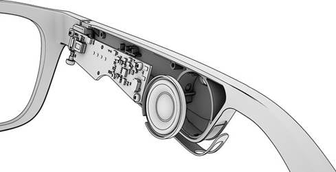 Exploded view of the Bose Frames