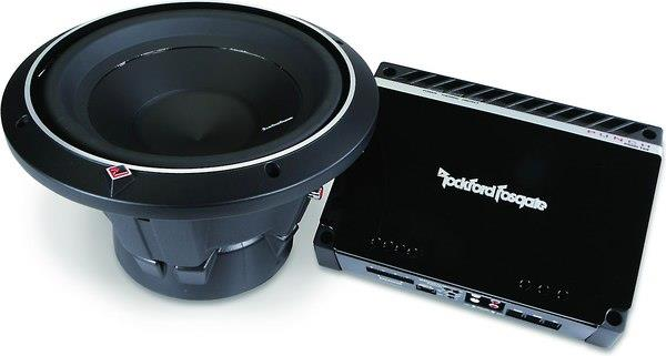 Rockford Fosgate Punch subwoofer and amplifier