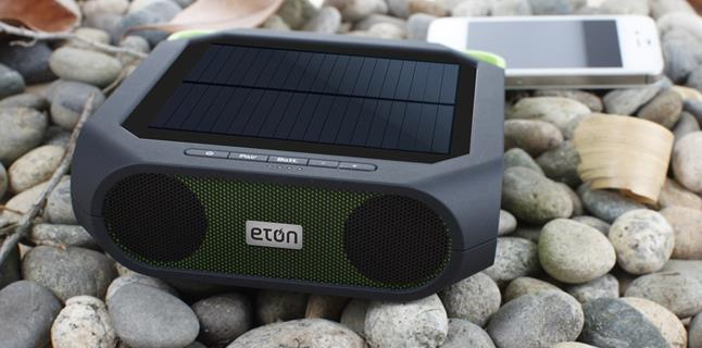 Eton Rugged Rukus Bluetooth solar-powered portable powered speaker