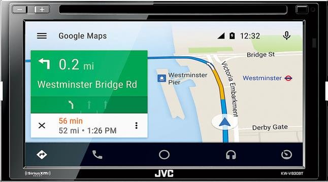 JVC KW-V830BT DVD receiver with Apple CarPlay and Android Auto