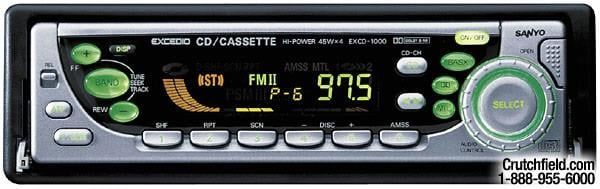 Sanyo EX-CD1000 CD/cassette receiver