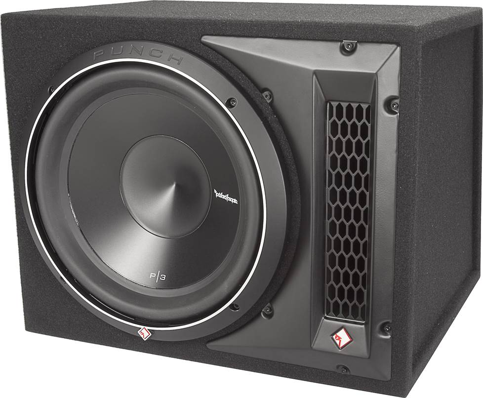 "Rockford Fosgate P3-1X12 ported box and 12"" sub"