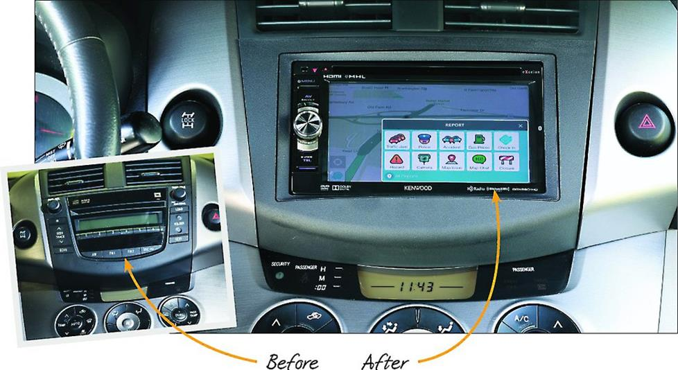 Before and After dash layout in 2007 RAV4