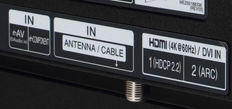HDMI input with HDCP 2.2