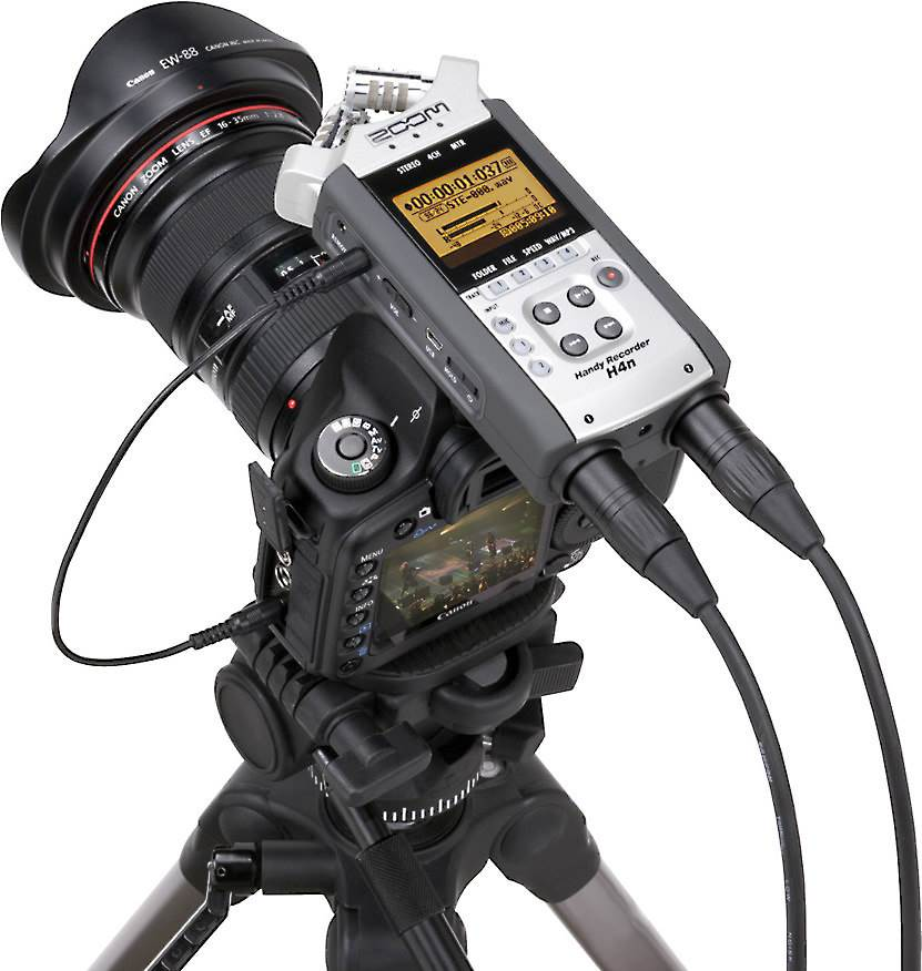 Connect a handheld recorder to your DSLR camera
