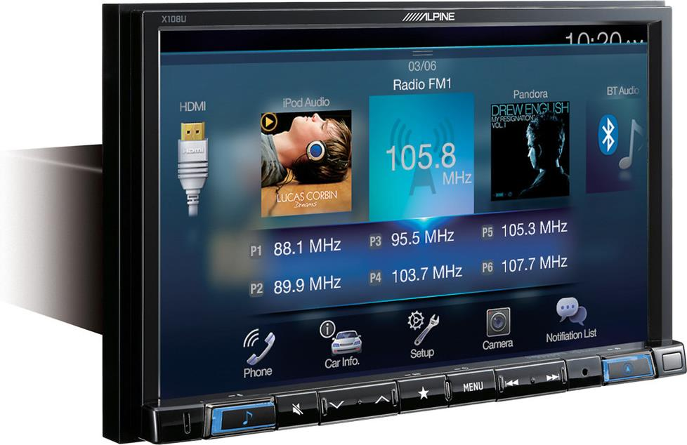 Alpine X108U digital media navigaiton receiver