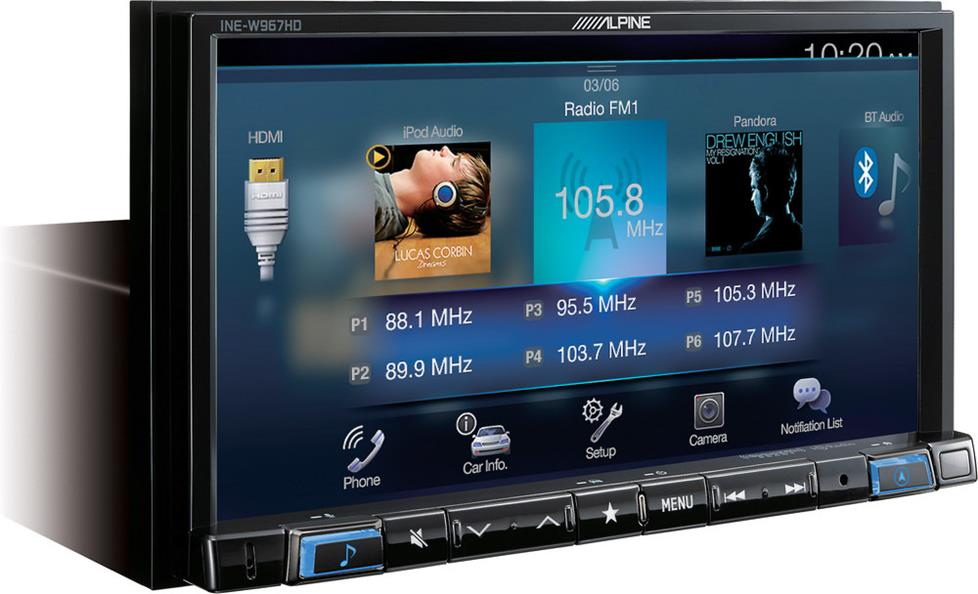 Alpine INE-W967 digital media navigation receiver