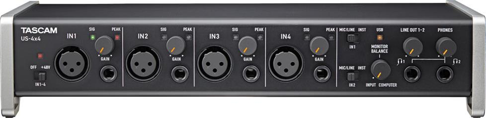 front of audio interface