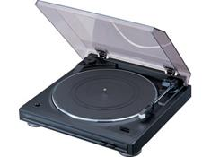 on a Denon turntable with built-in phono preamp