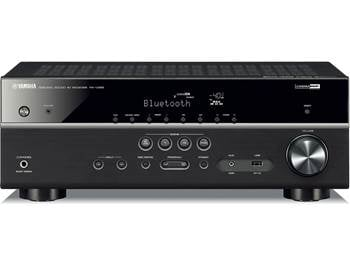 on a Yamaha RX-V385 5.1-channel home theatre receiver