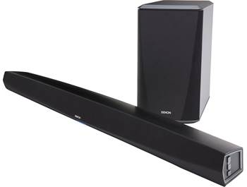 on a Denon sound bar/subwoofer system