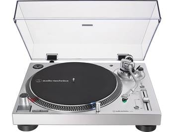 on an Audio-Technica LP-120XUSB manual direct-drive turntable