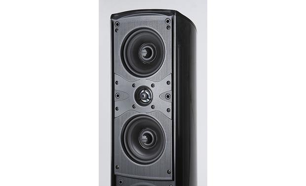 Definitive Technology Mythos STS SuperTower® Midrange and tweeter closeup