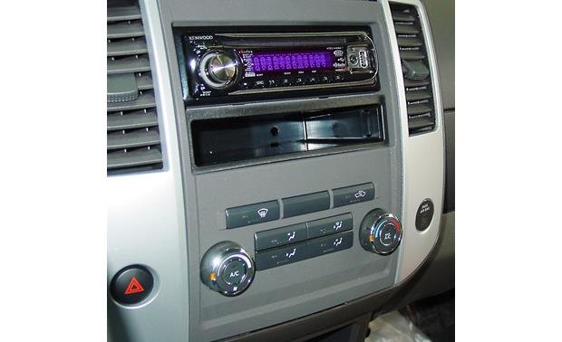 Metra 99-7428B Dash Kit Gray version installed with single-DIN radio (not included)