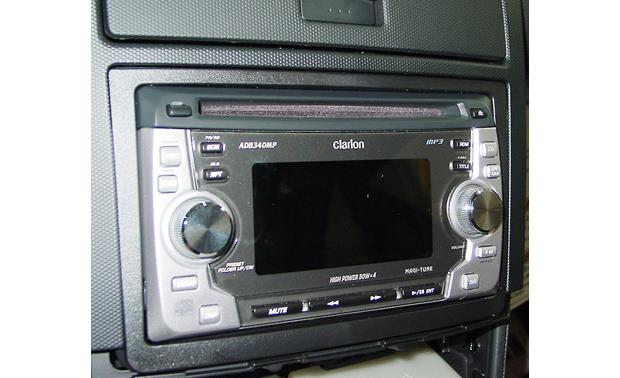 Metra 99-7602 Dash Kit Kit installed with double-DIN radio (not included)