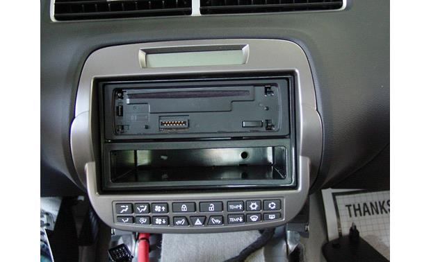 Metra 99-3010 Dash and Wiring Kit Installed w/ single-DIN (front view)