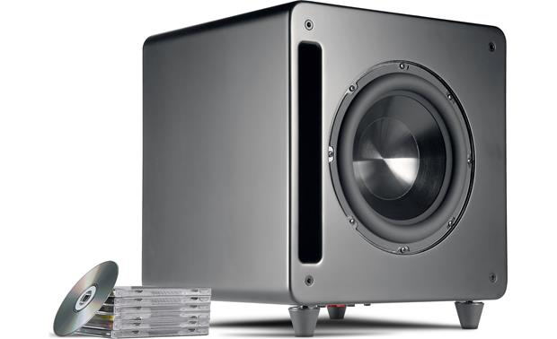Polk Audio DSW PRO 660wi Shown with feet moved for optional front-firing position