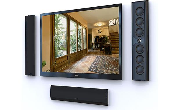 Definitive Technology Mythos XTR®-50 Wallspeaker Three shown (TV not included)