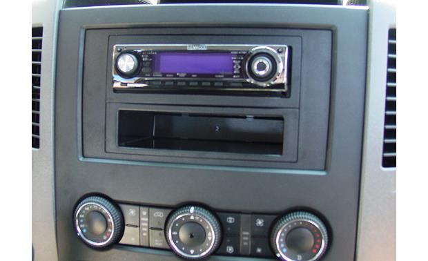 Scosche CR1292B Dash Kit Kit installed with single-DIN aftermarket radio (sold separately)