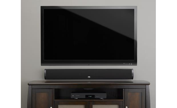 PSB Imagine W3 Pictured wall mounted with flat-panel TV